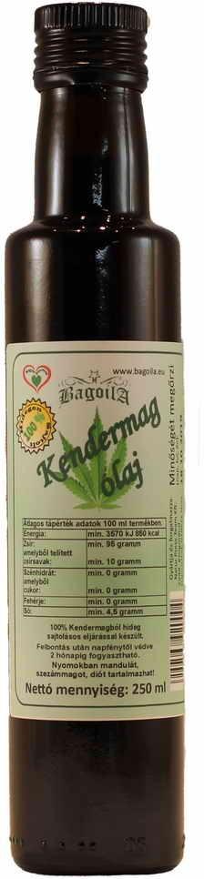 Bagoila Hidegen Sajtolt Kendermag olaj 250 ml