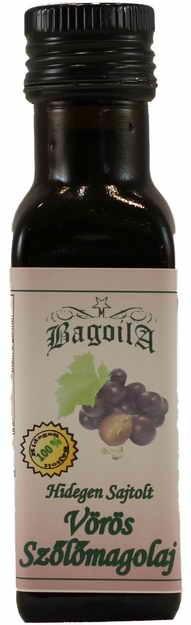 Bagoila Hidegen Sajtolt Vörös Szőlőmagolaj 100 ml